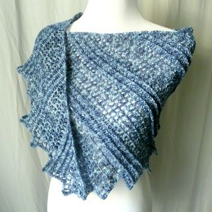 Handmade Blue Dragon Wing Shawl Wrap